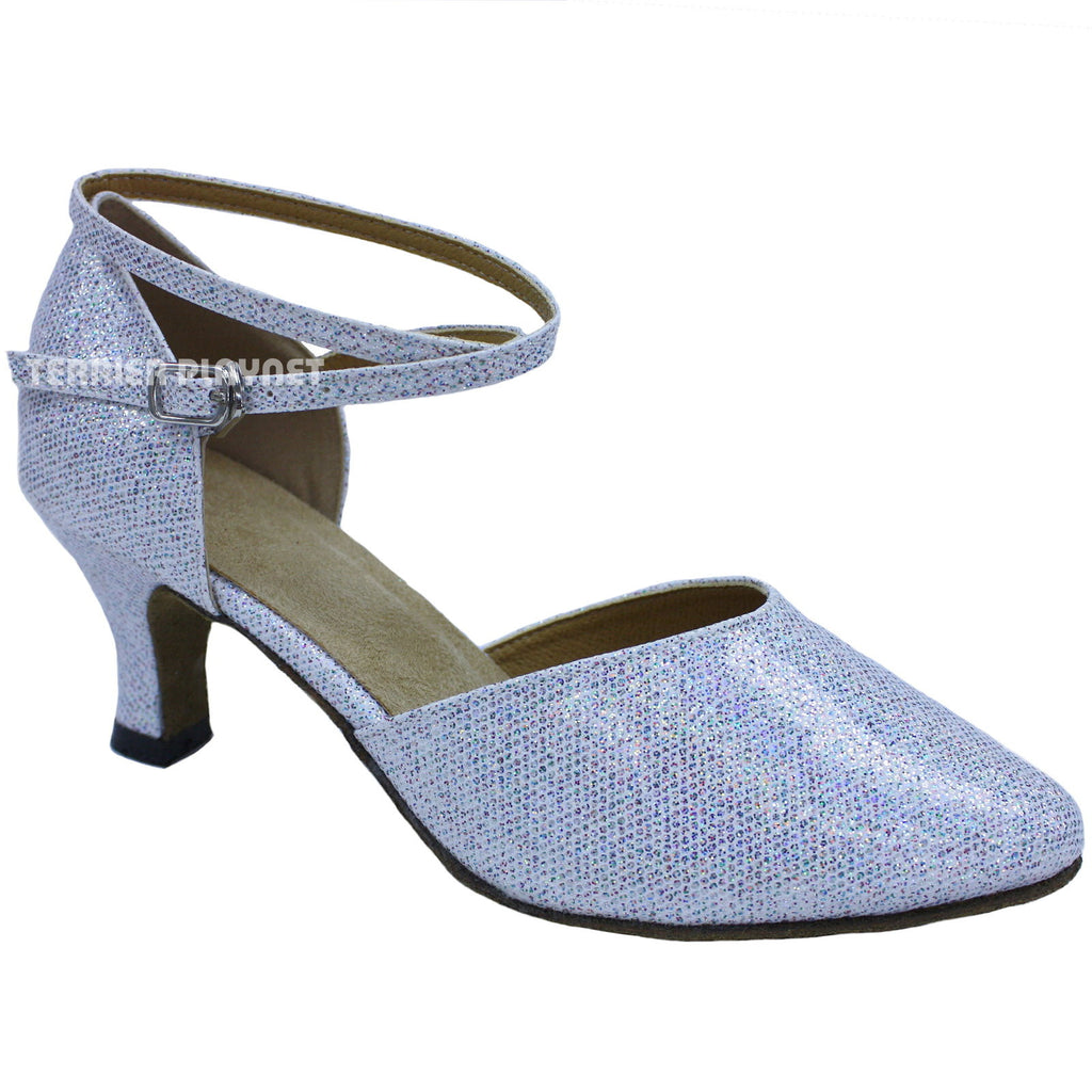 Silver & Multi-Color Women Dance Shoes D667