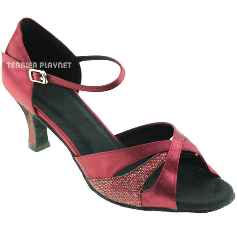 Wine Red Women Dance Shoes D671