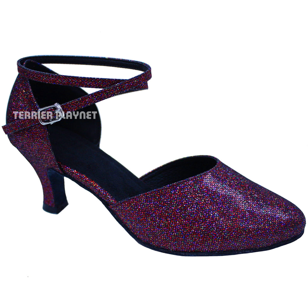 Red Women Dance Shoes D673 - Terrier Playnet Shop
