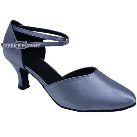 Silver Gray Women Dance Shoes D675