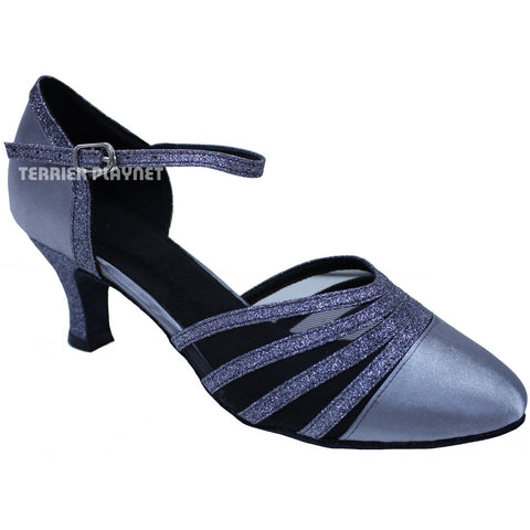 Silver Gray Women Dance Shoes D676