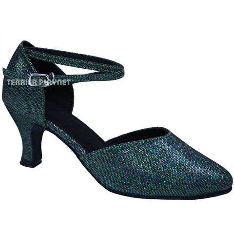 Green Women Dance Shoes D677