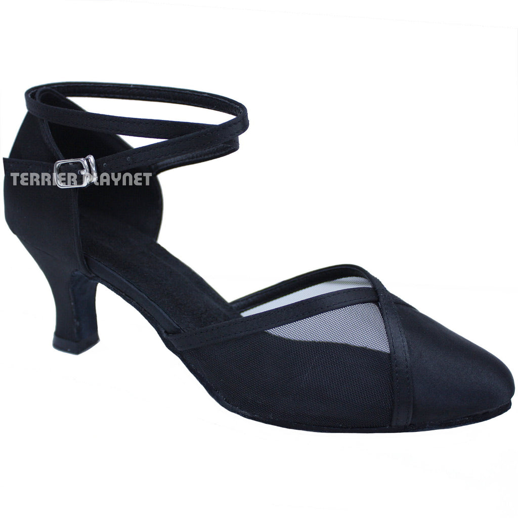 Black Women Dance Shoes D678 - Terrier Playnet Shop