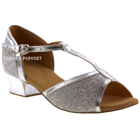 Silver Children Dance Shoes D67C