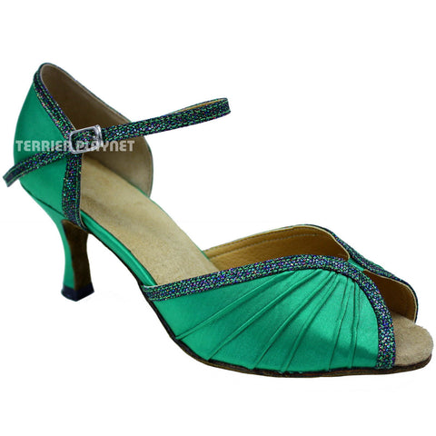 Green Women Dance Shoes D680
