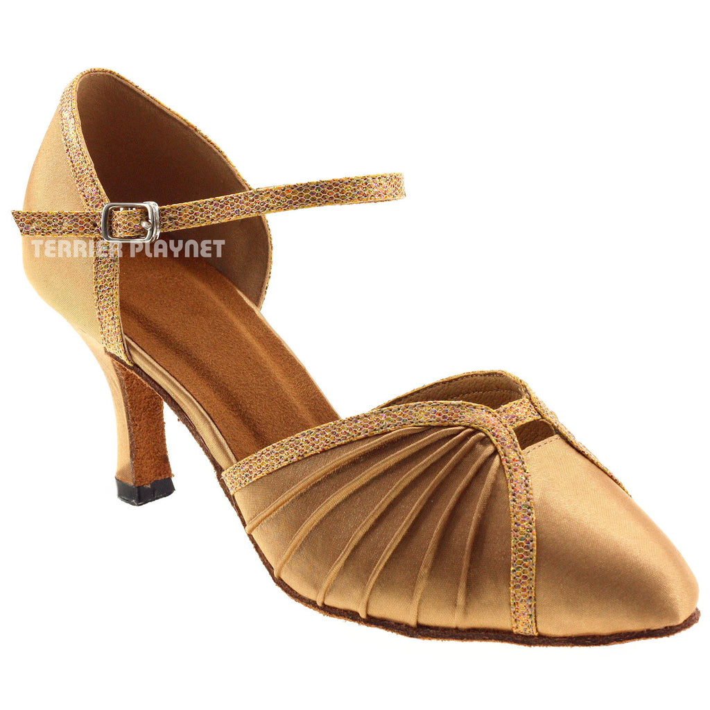 Gold Women Dance Shoes D684