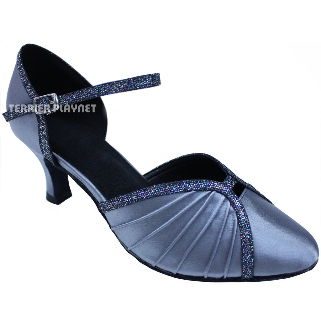 Silver Gray Women Dance Shoes D689 - Terrier Playnet Shop