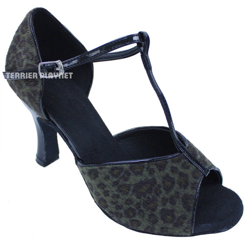 Black & Green Women Dance Shoes D695