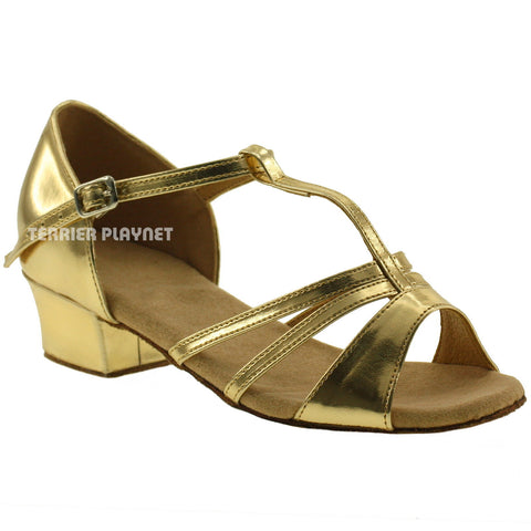 Gold Children Dance Shoes D69C