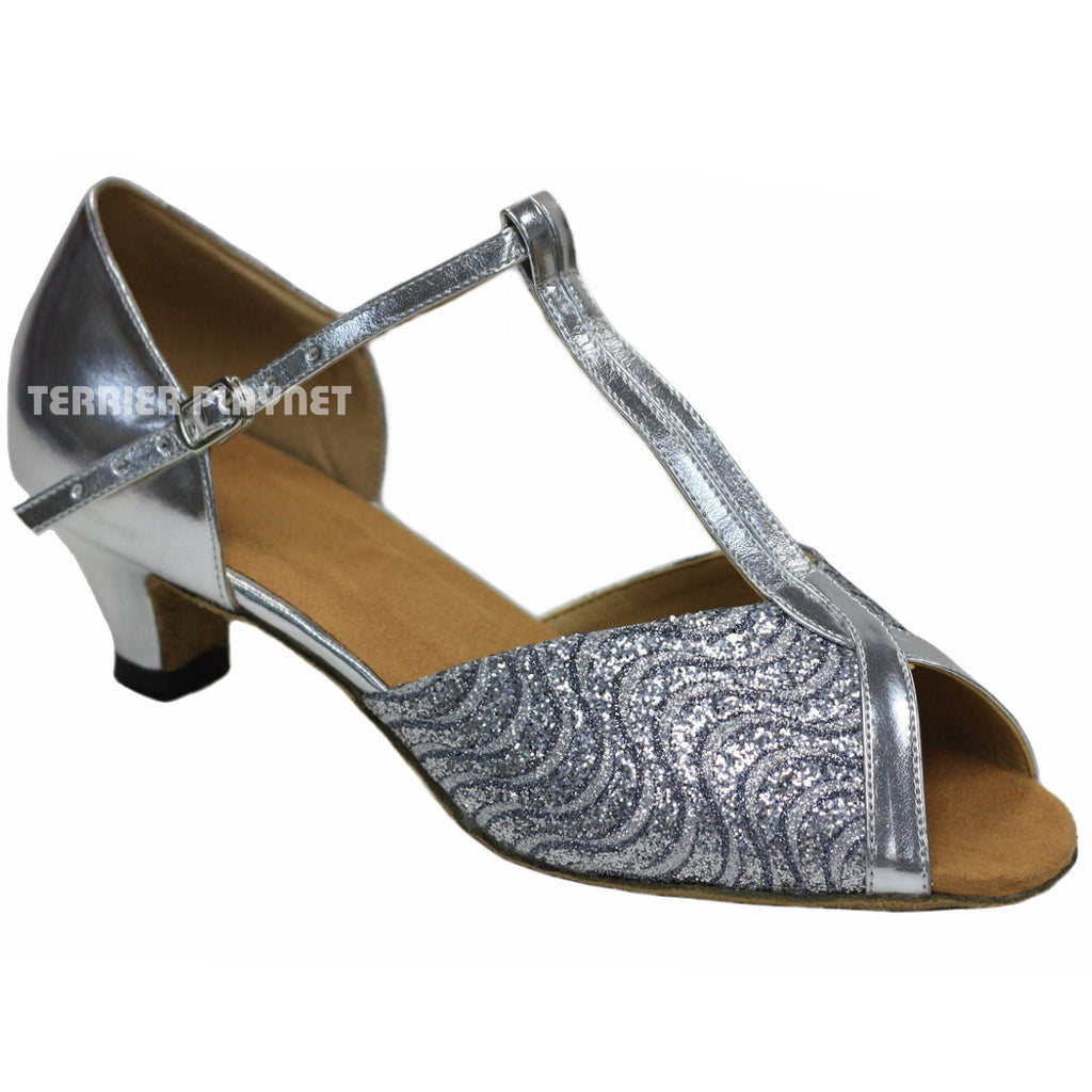 Silver Women Dance Shoes D705