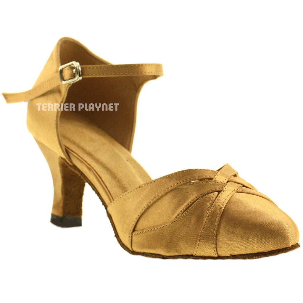 Gold Women Dance Shoes D70