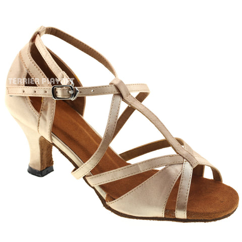 Cream Women Dance Shoes D713