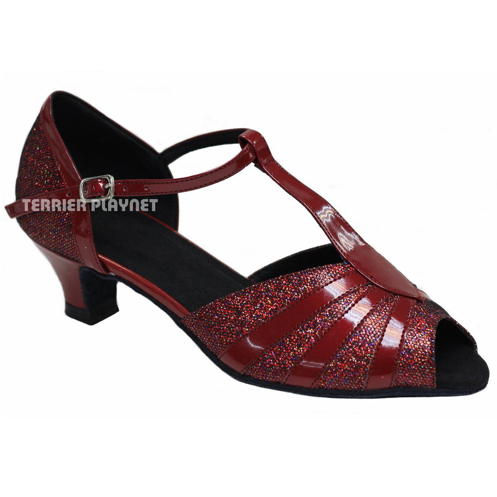 Red Women Dance Shoes D721 - Terrier Playnet Shop