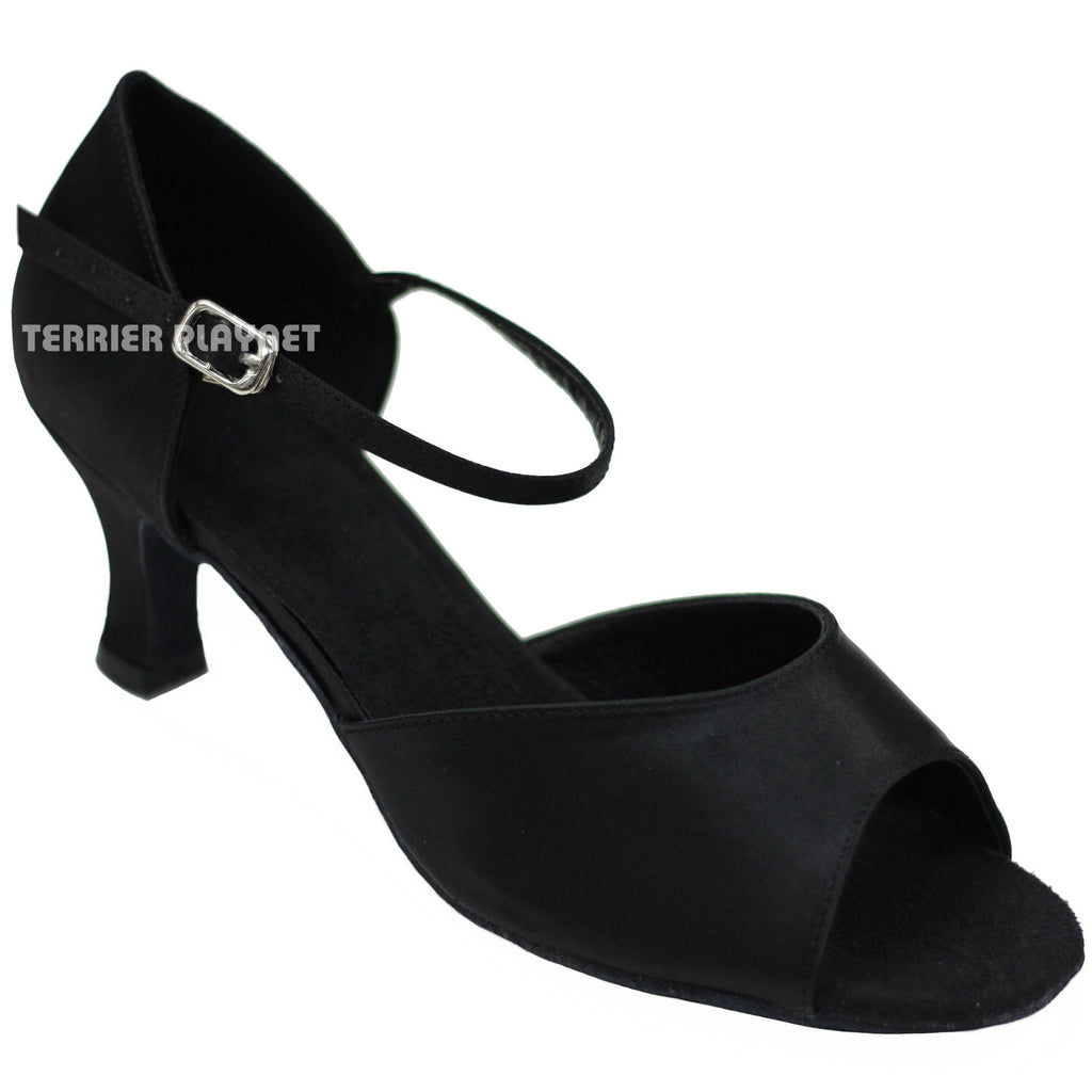 Black Women Dance Shoes D722 - Terrier Playnet Shop