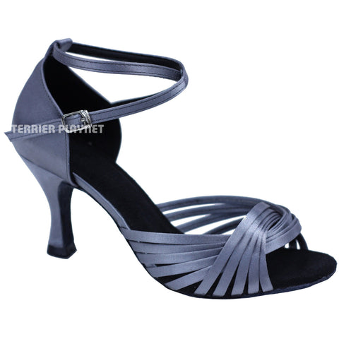 Silver Gray Women Dance Shoes D725