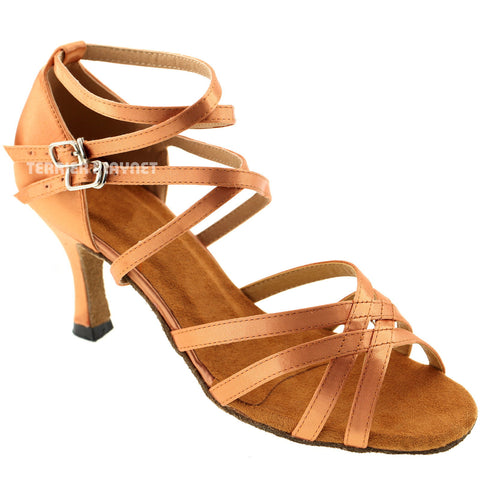 Tan Women Dance Shoes D727
