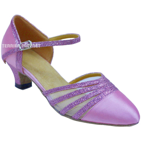 Light Pink Women Dance Shoes D731 UK5.5/US8/EU39 1.5 Inches/3.75cm Heel