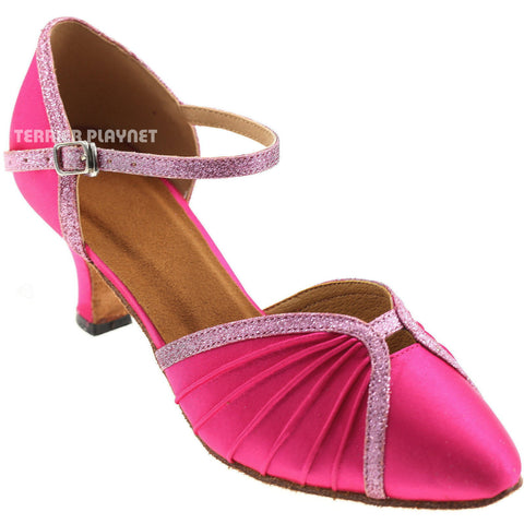 Hot Pink & Pink Women Dance Shoes D744