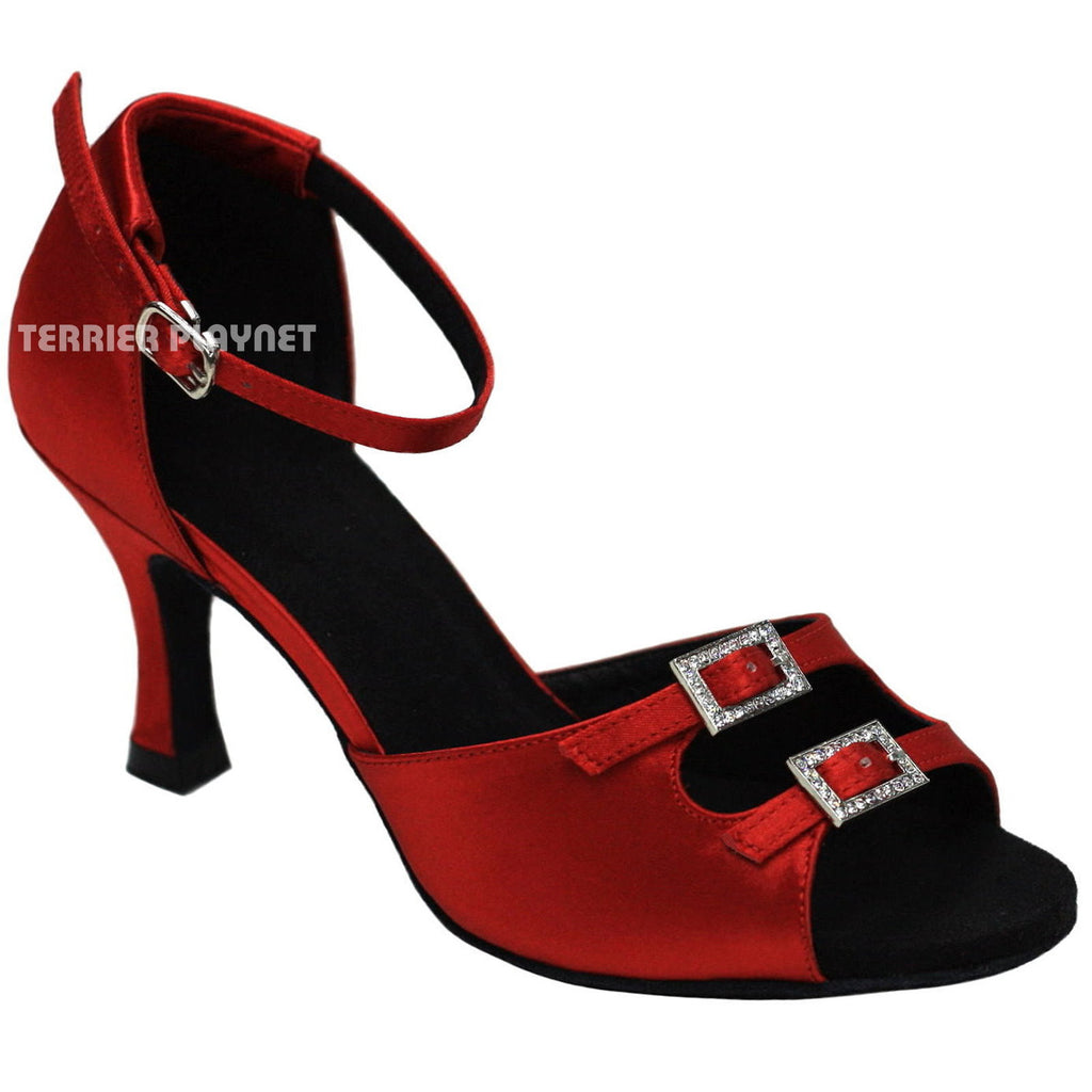 Red Women Dance Shoes D748 - Terrier Playnet Shop