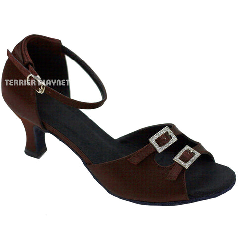 Brown Women Dance Shoes D750