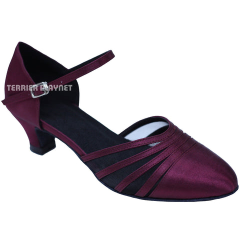 Wine Red Women Dance Shoes D756