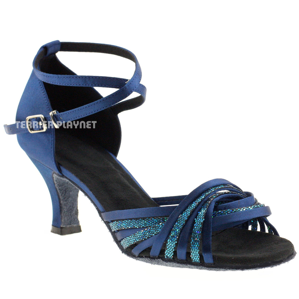 Blue Women Dance Shoes D760