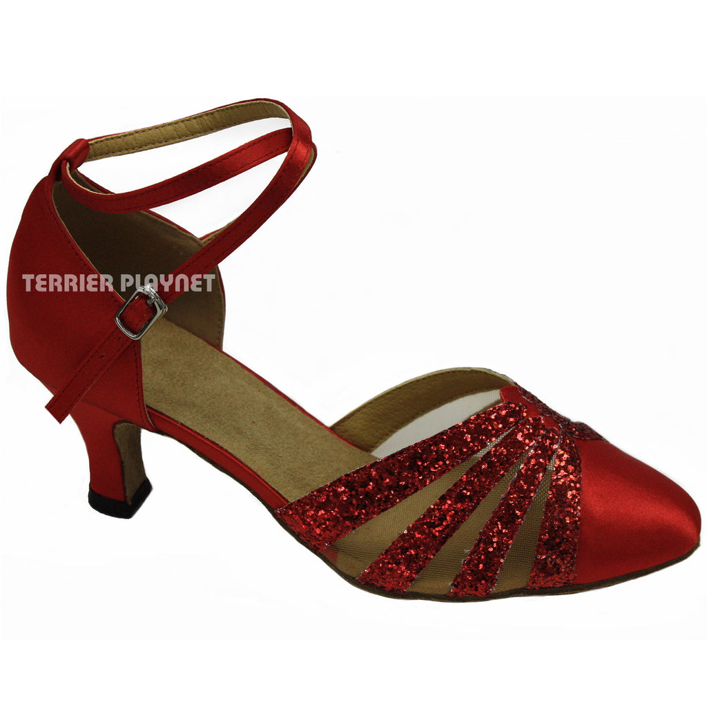 Red Women Dance Shoes D767 - Terrier Playnet Shop