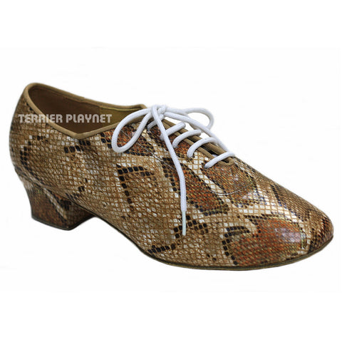 Snake Skin Pattern Women Dance Shoes D777