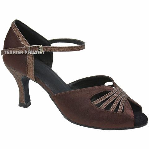 Brown Women Dance Shoes D791