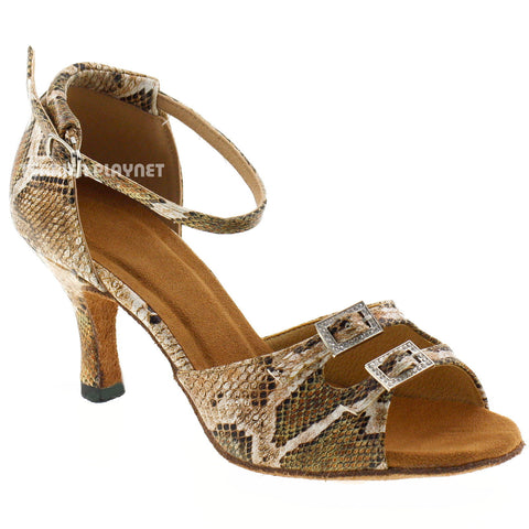 Snake Skin Pattern Women Dance Shoes D807
