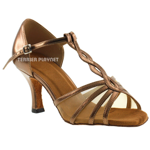 Bronze Women Dance Shoes D80