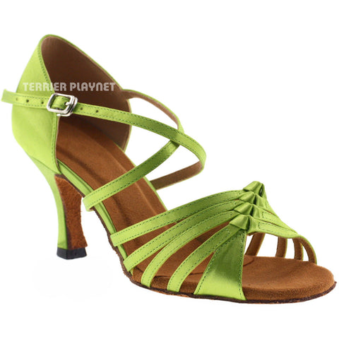 Light Green Women Dance Shoes D813 UK7/US9.5/EU40.5 2 Inches/5cm Heel