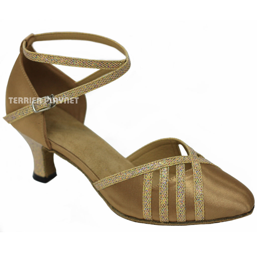 Gold Women Dance Shoes D818
