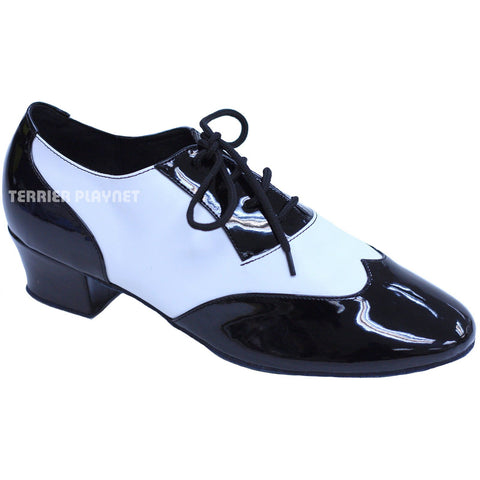 Black & White Women Dance Shoes D821 UK4.5/US7/EU37.5 1.5 Inches/3.75cm Heel