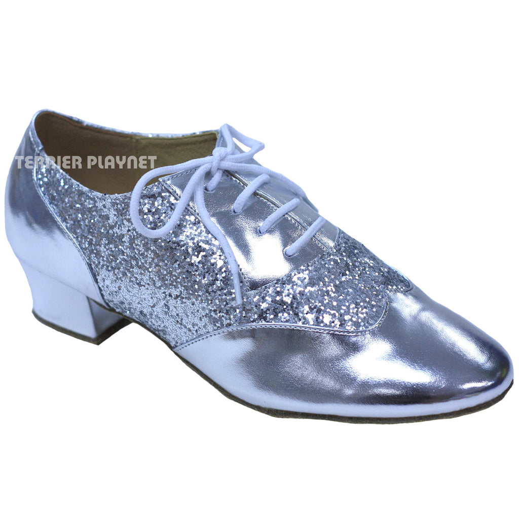 Silver Women Dance Shoes D830 - Terrier Playnet Shop