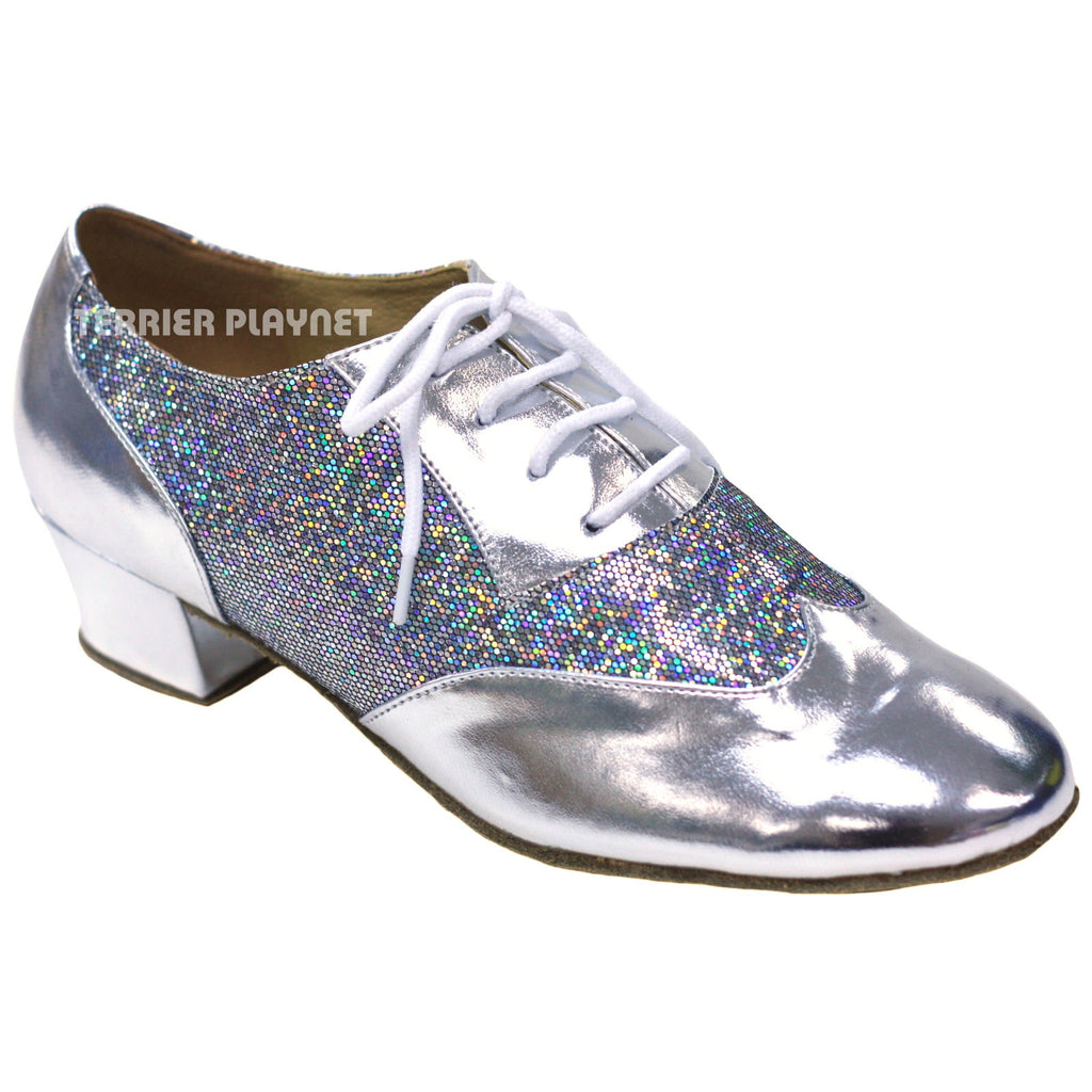 Silver Women Dance Shoes D834 - Terrier Playnet Shop