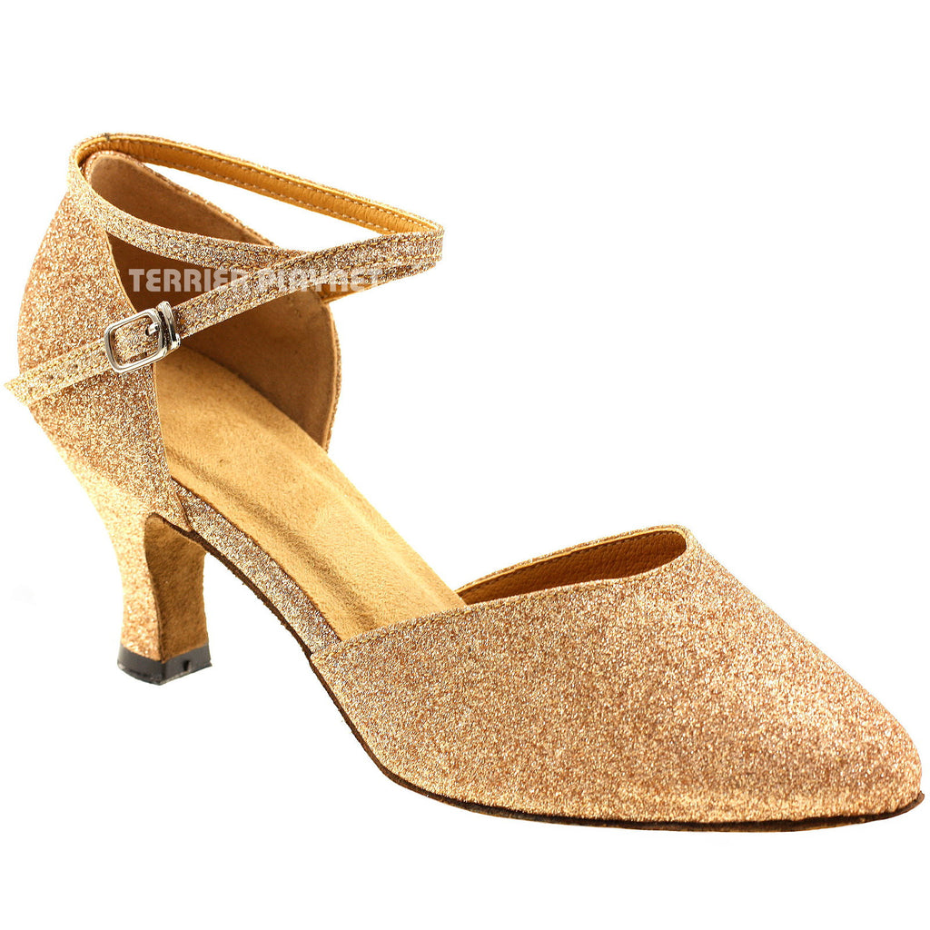 Gold Women Dance Shoes D84