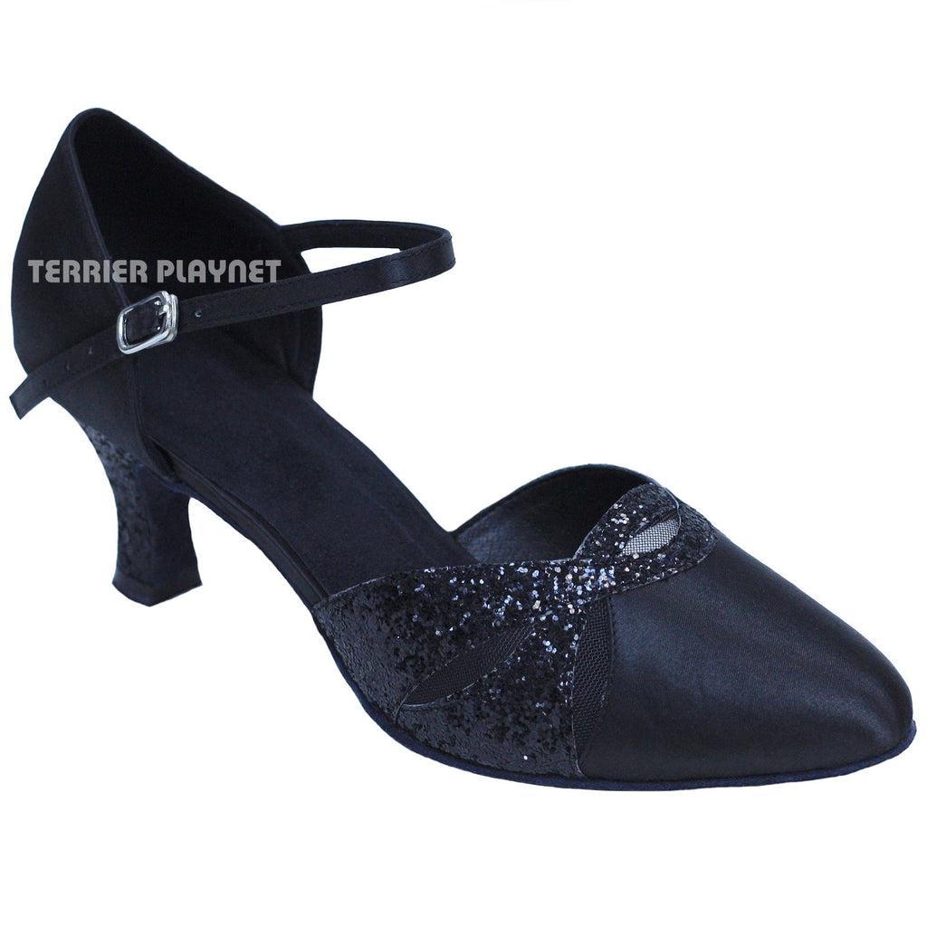 Black Women Dance Shoes D850 - Terrier Playnet Shop