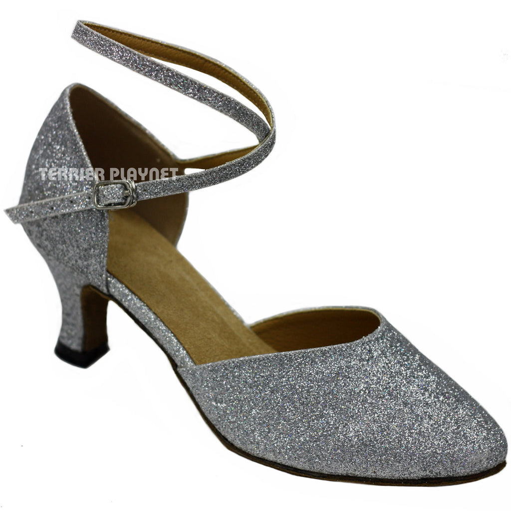 Silver Women Dance Shoes D85