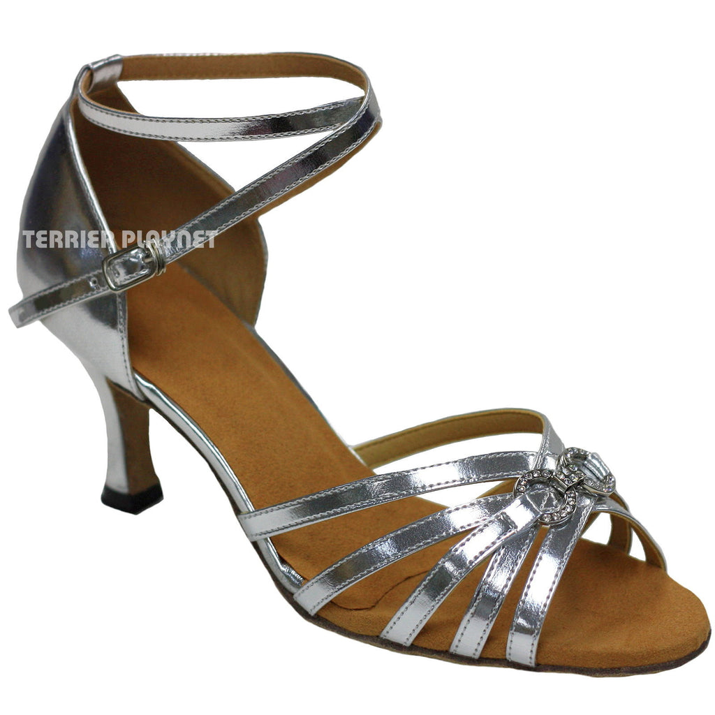 Silver Women Dance Shoes D867