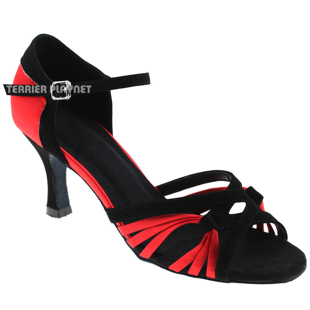 Black & Red Women Dance Shoes D868 - Terrier Playnet Shop