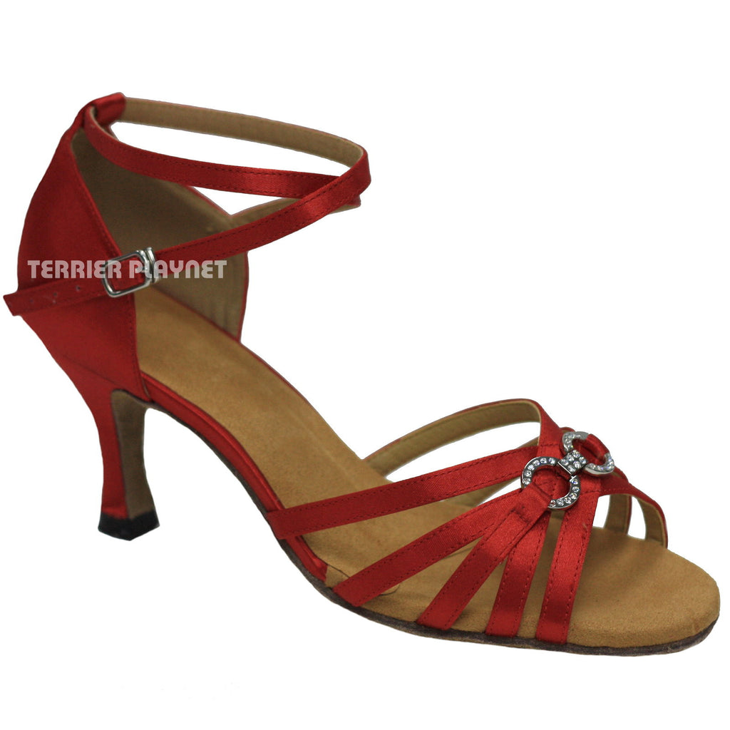 Red Women Dance Shoes D874 - Terrier Playnet Shop