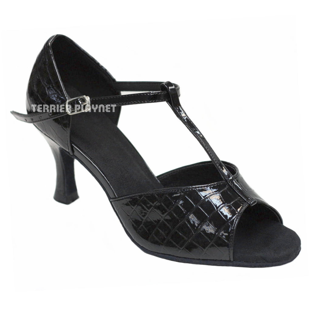 Black Women Dance Shoes D877 - Terrier Playnet Shop