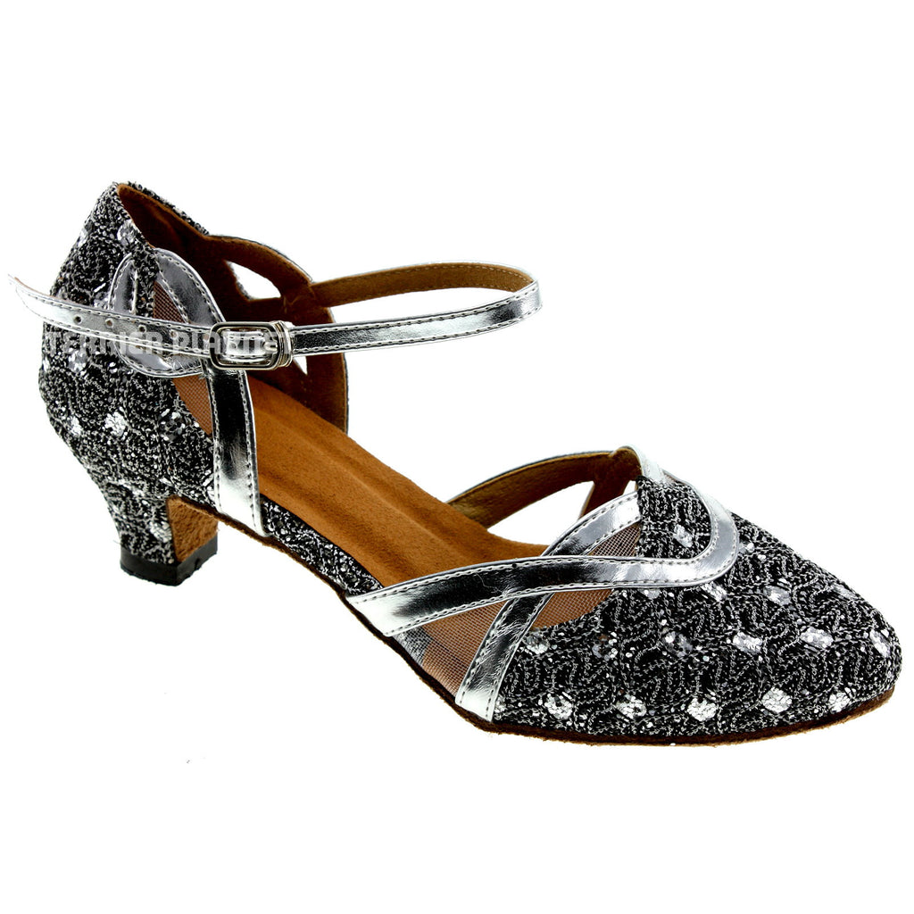 Silver Women Dance Shoes D87 - Terrier Playnet Shop
