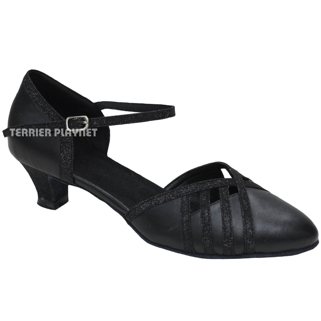 Black Women Dance Shoes D881 - Terrier Playnet Shop