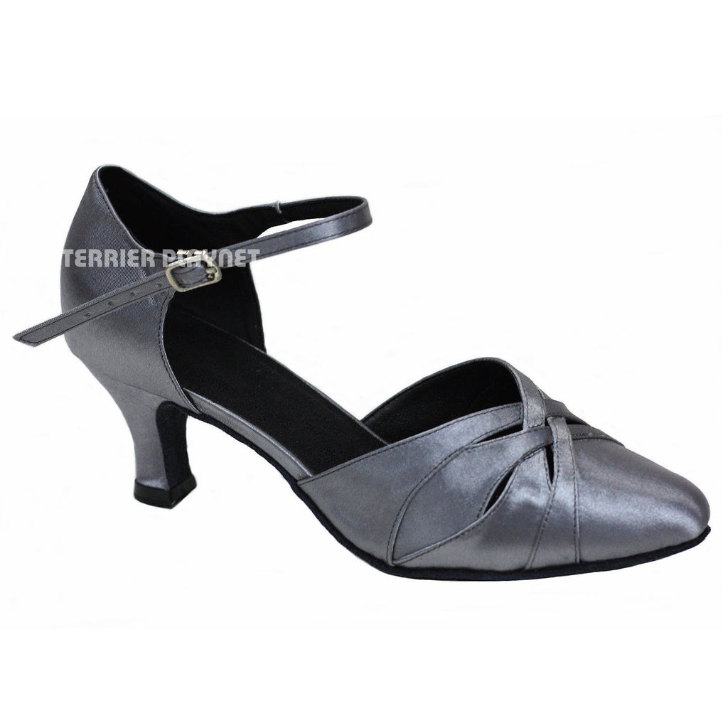 Silver Gray Women Dance Shoes D885 - Terrier Playnet Shop