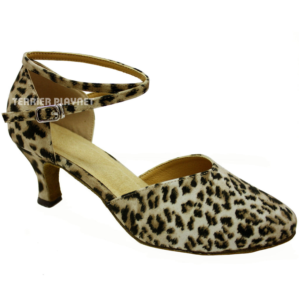 Leopard Women Dance Shoes D88 - Terrier Playnet Shop