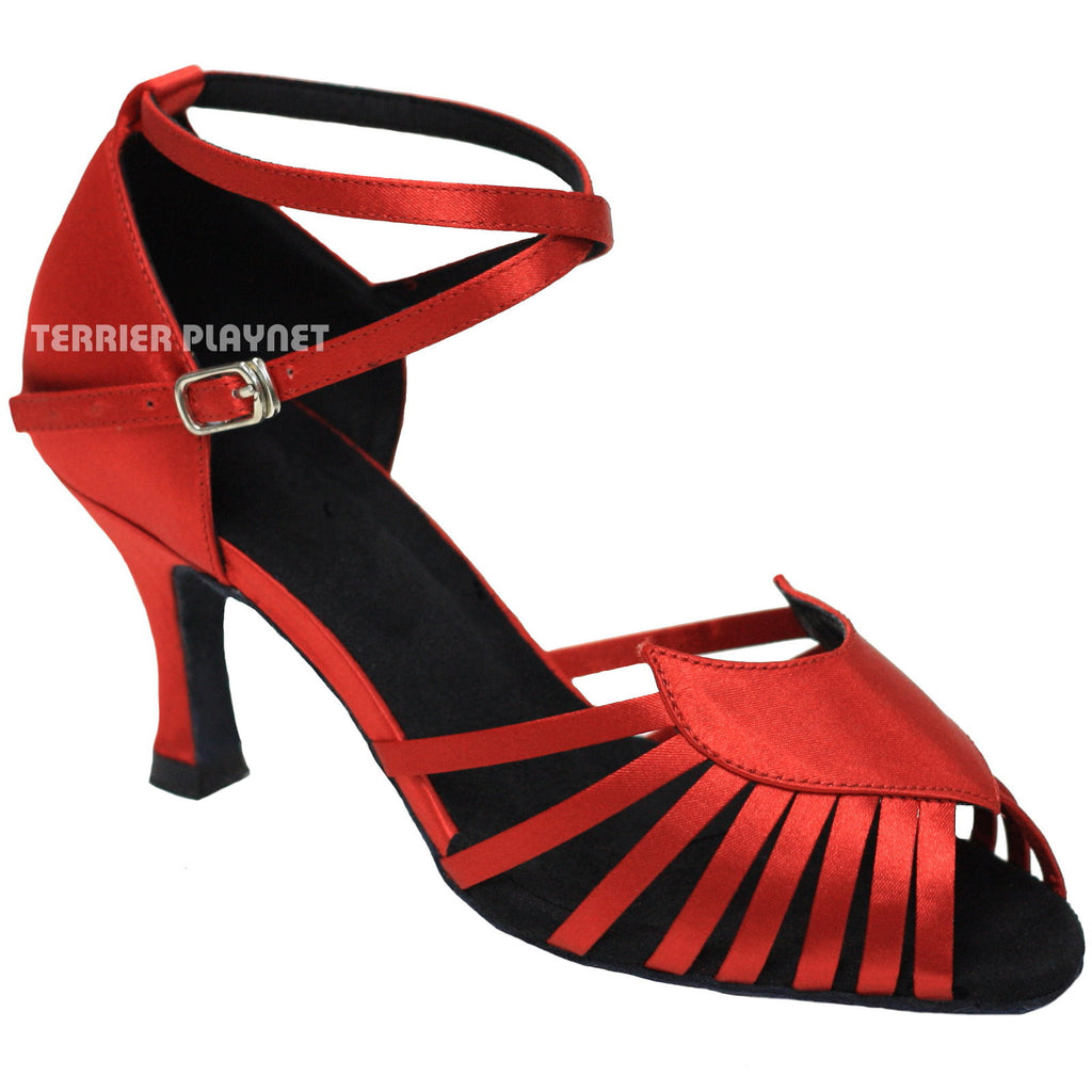 Red Women Dance Shoes D890 - Terrier Playnet Shop