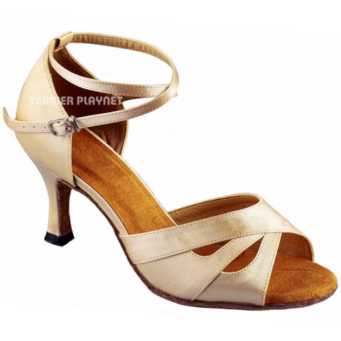 Cream Women Dance Shoes D896