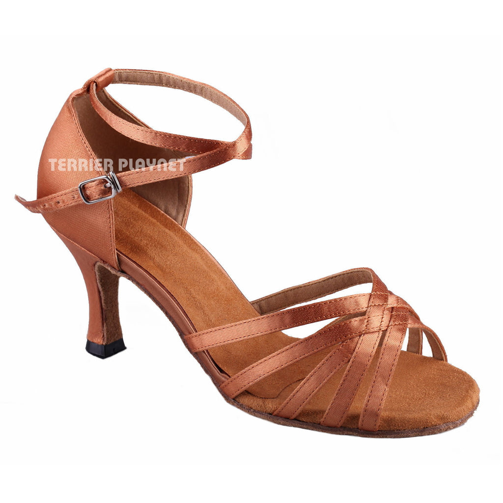 Tan Women Dance Shoes D897
